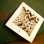 Zentangle Tile with official tangles