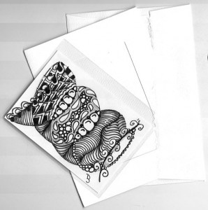 Zentangle Inspired ATC Card project