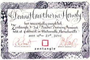 Donna Hornsby, Certified Zentangle Teacher, Texas