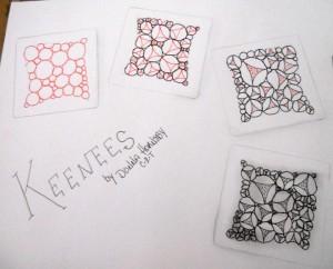 Keenees: an original tangle by Donna Hornsby, CZT